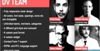 Dv team responsive team plugin wordpress showcase