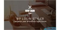 Hero login styler wp customizer screen login