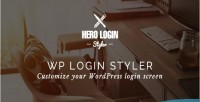 Hero login styler wp customizer screen login