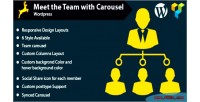 Meet the team with wordpress for carousel
