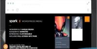 A wordpress menu & plugin pane info a