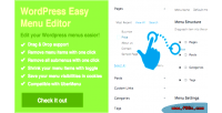 Easy wordpress menu editor