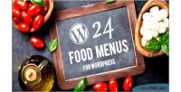 Food wordpress menu builder plugin layout with