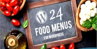 Food wordpress menu builder plugin layout with