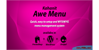 Kahanit awe menu wordpress plugin menu mega