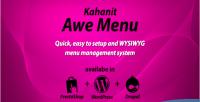 Kahanit awe menu wordpress plugin menu mega