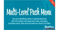 Level multi push wordpress for menu