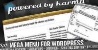 Mega pbk wordpress for menu