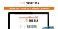 Mega pixelmenu menu wordpress for builder