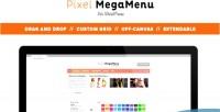 Mega pixelmenu menu wordpress for builder