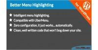 Menu better wordpress for highlighting