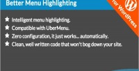 Menu better wordpress for highlighting