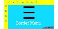 Menu border custom icon with menu an effect border animated