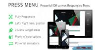 Menu press responsive menu canvas off