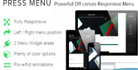Menu press responsive menu canvas off