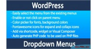 Menu wordpress dropdown