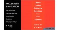 Modal fullscreen navigation menu