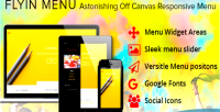 Off wordpress canvas menu flyin menu