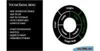 Radial voltar wordpress for menu