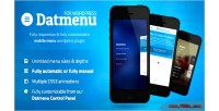 Responsive datmenu menu wordpress for plugin