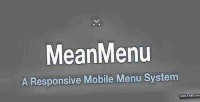 Responsive meanmenu mobile menu