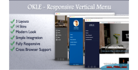 Responsive okle vertical wordpress for menu