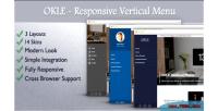 Responsive okle vertical wordpress for menu