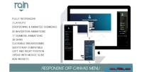 Responsive rain off menu wordpress canvas