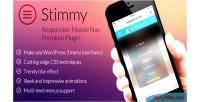 Responsive stimmy mobile wordpress for menu