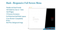 Responsive wordpress fullscreen menu