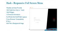 Responsive wordpress fullscreen menu