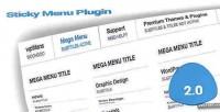 Sticky wp menu plugin