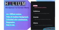 Wordpress helium menu screen full