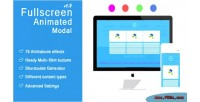 Animated fullscreen modal popup responsive magnificent