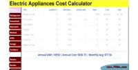 Appliances electric cost calculator