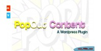 Content popout for wordpress