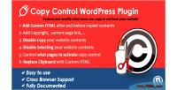 Copy wordpress control plugin