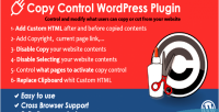 Copy wordpress control plugin