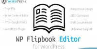 Flipbook wp editor wordpress html responsive flipbook edit flipbook customizable