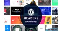 Headers wordpress plugin builder layout with