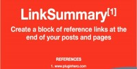 Linksummary add reference links posts pages to