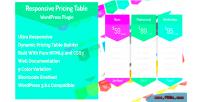 Responsive ccr wordpress plugin table pricing