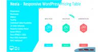 Responsive neela table pricing wordpress