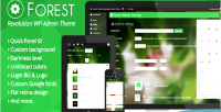 Revolution forest theme admin wordpress