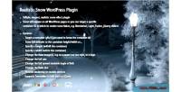 Snow realistic wordpress plugin