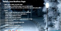 Snow realistic wordpress plugin