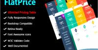 Wordpress flatprice pricing tables