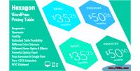 Wordpress hexagon pricing table