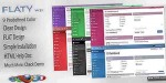 Flaty wp premium wordpress template admin flat