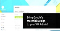 Wp material material theme dashboard design